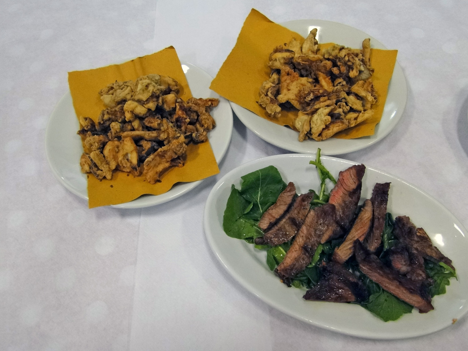 Grilled meat and mushrooms