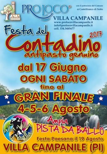 Locandina della Festa del Contadino a Villa Campanile, edizione 2017