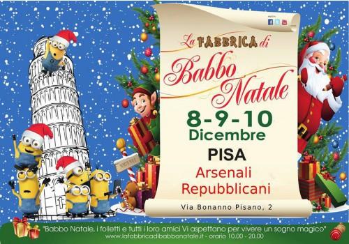 Locandina della Fabbrica di Babbo Natale a Pisa, edizione 2017