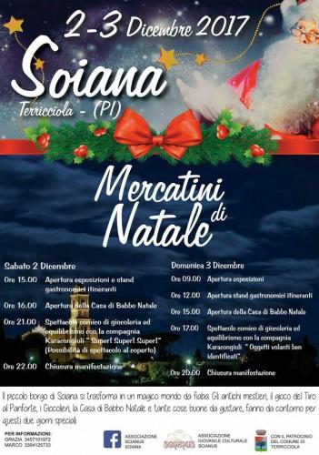 Locandina dei Mercatini di Natale a Soiana, edizione 2017