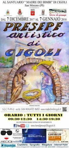 Locandina del Presepe Artistico di Cigoli, edizione 2017