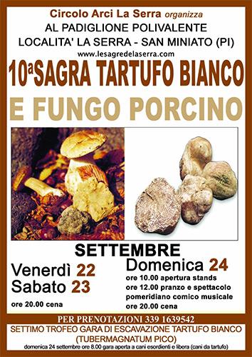 Locandina della Sagra del Tartufo Bianco e Fungo Porcino a La Serra, edizione del 2017