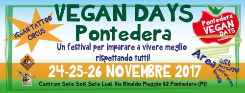 Locandina di Vegan Days a Pontedera, edizione 2017