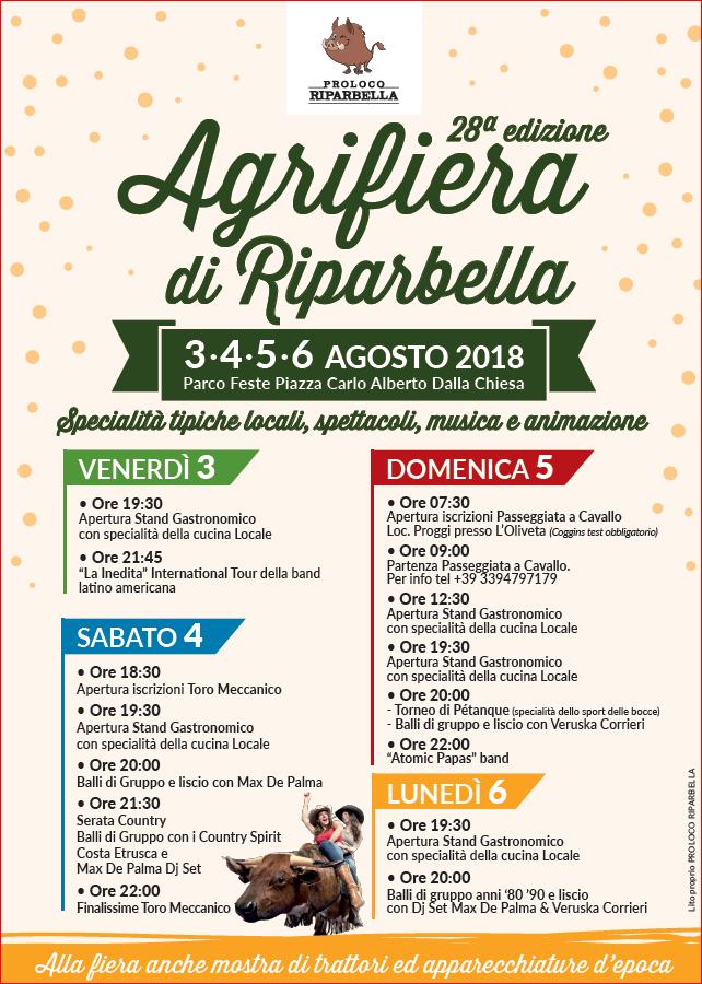 Locandina dell'Agrifiera Ripalbellina a Ripalbella