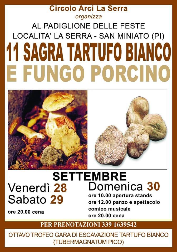 Locandina della Sagra del Tartufo Bianco e Fungo Porcino a La Serra