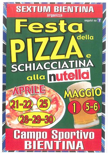 Locandina della Sagra della Pizza a Bientina