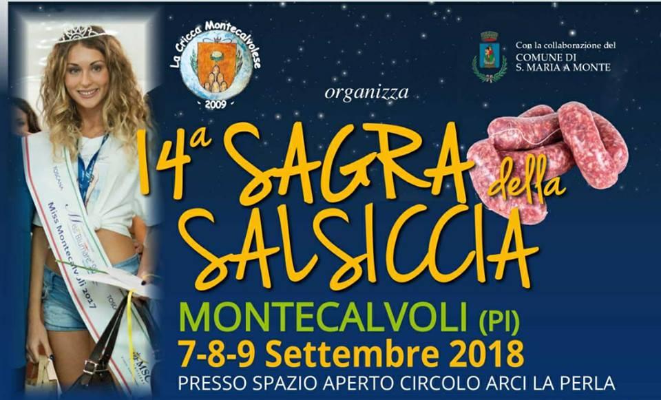 Locandina della Sagra della Salsiccia a Montecalvoli