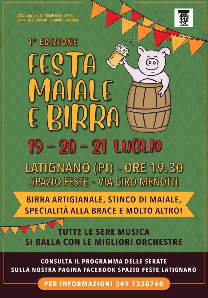Locandina della Festa della Birra a Latignano