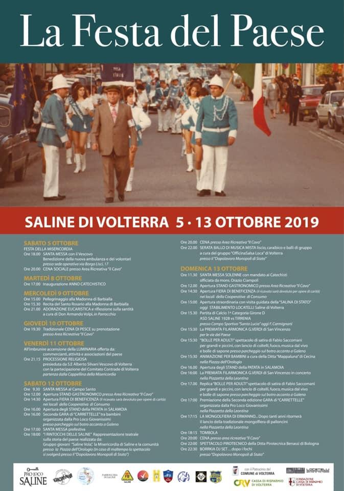 Locandina de La Festa del Paese a Saline di Volterra