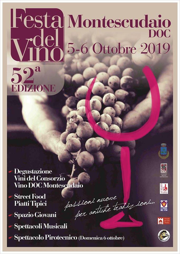 Locandina della Festa del Vino a Montescudaio