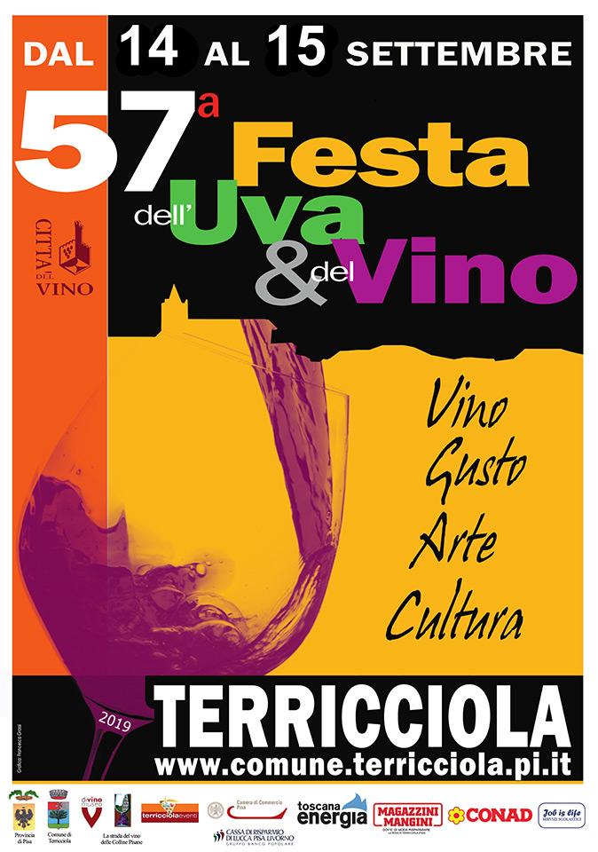 Locandina della Festa dell'Uva e del Vino a Terricciola