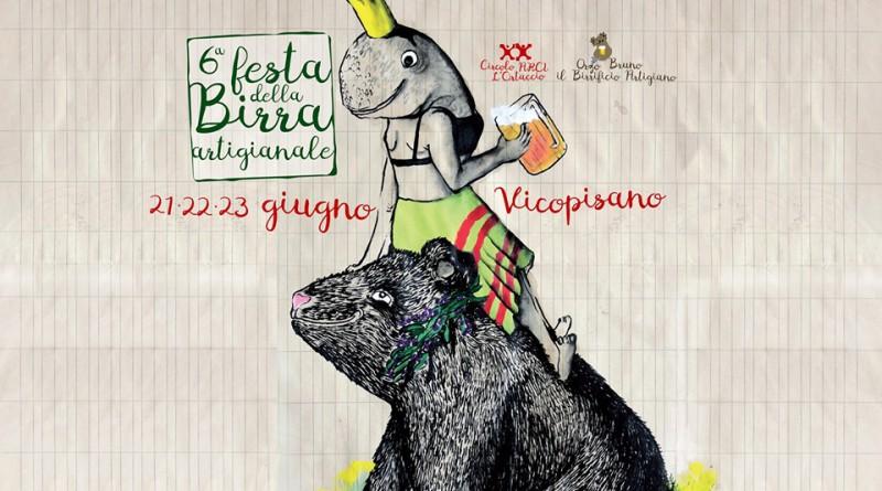 Locandina della Festa della Birra Artigianale a Vicopisano