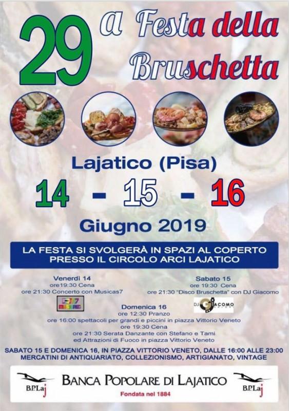 Locandina della Festa della Bruschetta a Lajatico