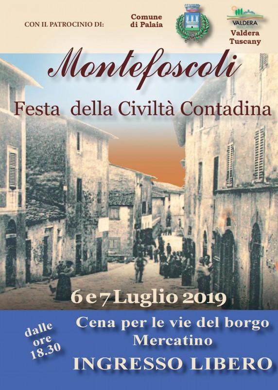 Locandina della Festa della Civiltà Contadina a Montefoscoli, edizione 2017