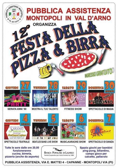 Locandina della Festa della Pizza e Birra a Capanne