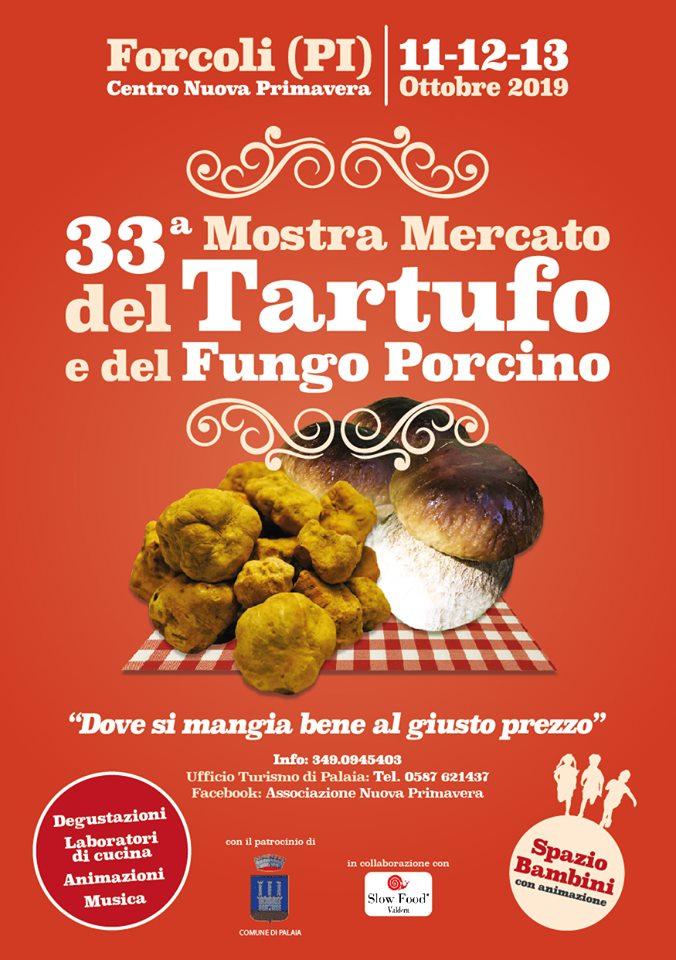 Locandina della Mostra del Tartufo e del Fungo Porcino a Forcoli