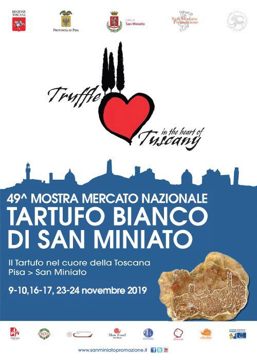 Locandina della Mostra Mercato Nazionale del Tartufo Bianco a San Miniato