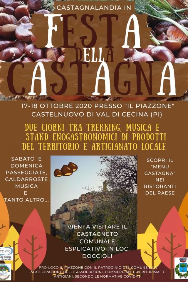 Locandina di Castagnalandia a Castelnuovo Val di Cecina